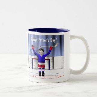 Father's Day Hockey Winner Two-Tone Coffee Mug