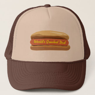 Father's Day Hot Dog World's Greatest Dad Trucker Hat