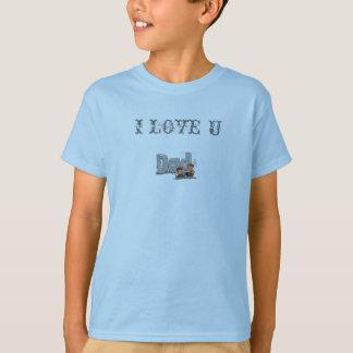 fathers_day, I LOVE U T-Shirt