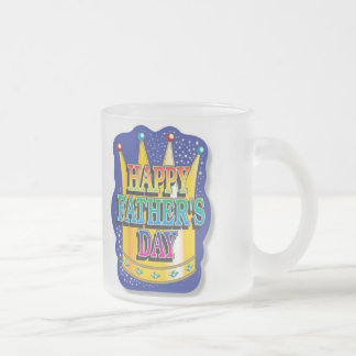 """FATHER'S DAY """"I LOVE YOU DAD"""" POEM FROSTED GLASS COFFEE MUG"""