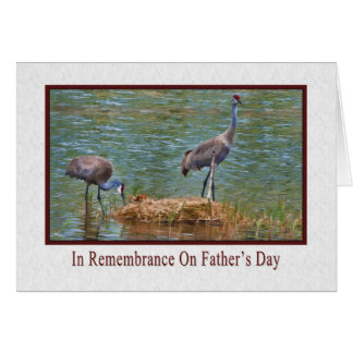 Father's Day, In Remembrance, Sandhill Cranes Card
