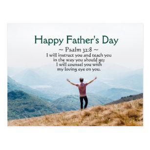 Bible fathers day shop mynextcar fathers day inspirational bible verse psalm 328 postcard m4hsunfo
