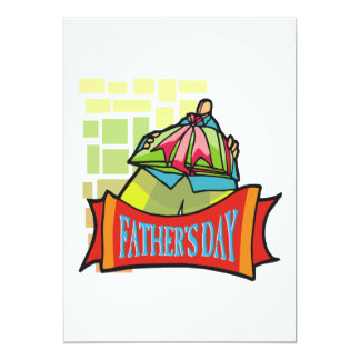Fathers Day 5x7 Paper Invitation Card