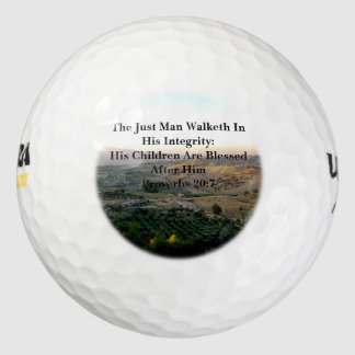 Fathers Day Italy and Scripture Golf Balls