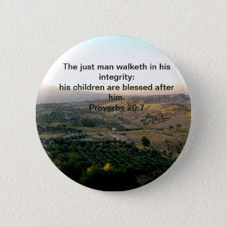 Father's Day Italy & Scripture Gifts Pinback Button