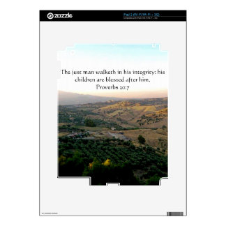 Father's Day Italy & Scripture Gifts iPad 2 Skin