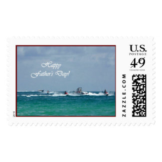 Father's Day Jet Skiing Large Stamp