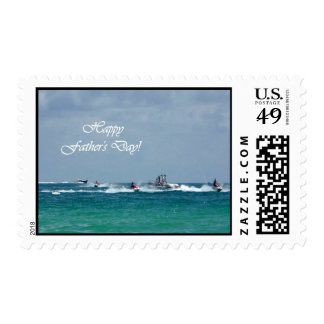 Father's Day Jet Skiing Medium Stamp