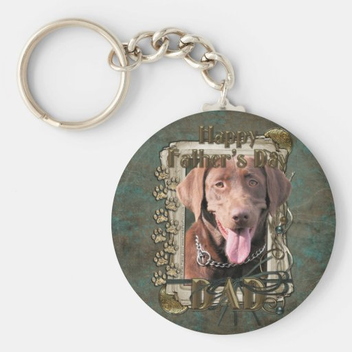 Fathers Day - Labrador - Chocolate Key Chains