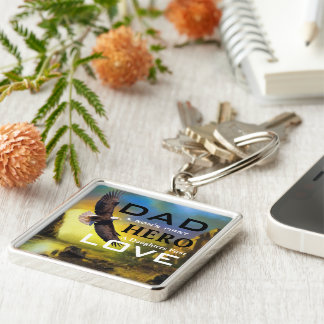 Father's Day Large Premium Square Keychain