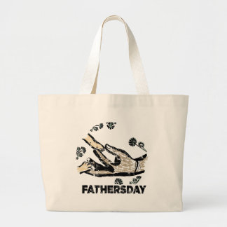 Father's Day Large Tote Bag