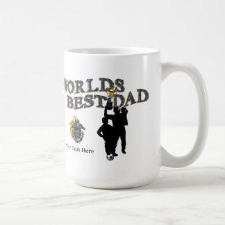 Fathers Day Laurel Wreath Best Dad Coffee Mug