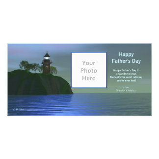 Father's Day Lighthouse - Blue Card