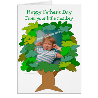 Fathers Day Little Monkey Photo Card Template