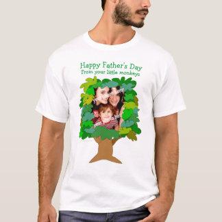 Fathers Day Little Monkeys Photo Shirt Template