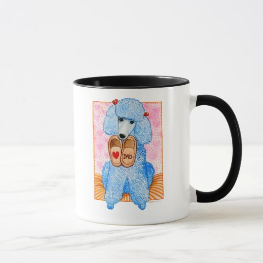 Father's Day Love Dad Poodle Pampering Mug