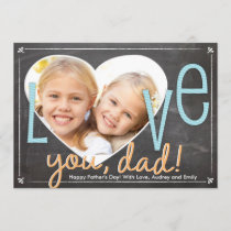 Father's Day Love You Dad Heart Card