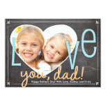 Father's Day Love You Dad Heart 5x7 Paper Invitation Card