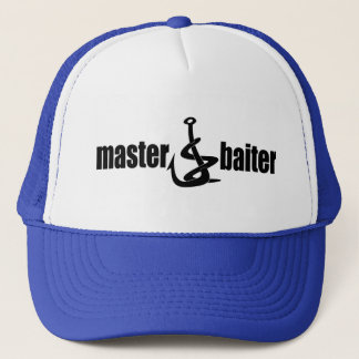Father's Day Master Baiter Fishing Dad Trucker Hat