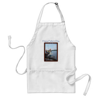 Father's Day Memento Frame Adult Apron