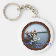 Father's Day Memento Frame Basic Round Button Keychain