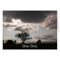 Father's Day Memorial Keepsake Card