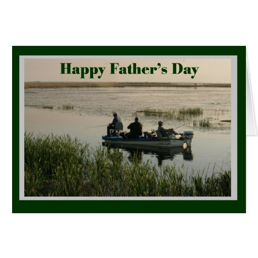 Fathers day men fishing card zazzle for Father s day fishing card