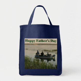 Fathers Day Men Fishing Tote Bag