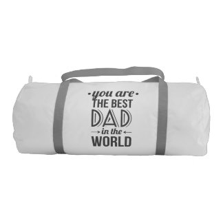 Father's day message best dad in the world gym bag