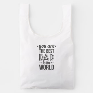 Father's day message best dad in the world reusable bag