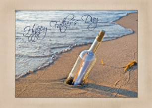 fathers day message in a bottle card