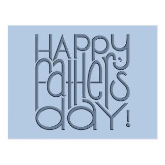 Fathers Day metal Postcard