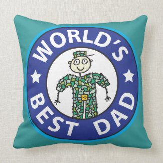 Fathers Day Military Dad Throw Pillows