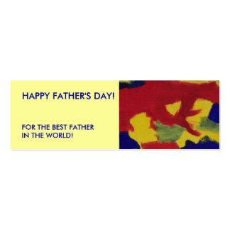 Father's Day Mini Book Marker Color Signature Business Card Templates