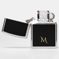 Fathers Day Monogram Zippo Chrome Lighter for Dad