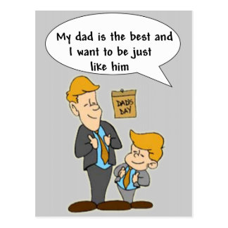 Father's Day My Dad Is Best Postcard