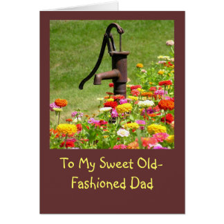 FATHER'S DAY/MY OLD FASHIONED DAY/ SO GLAD YOU WER CARD