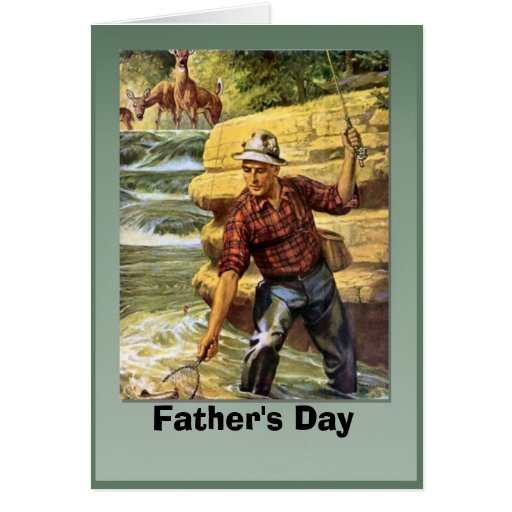 Father 39 s day netting the fish card zazzle for Father s day fishing card