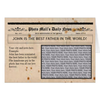 Father's Day Newspaper card frame