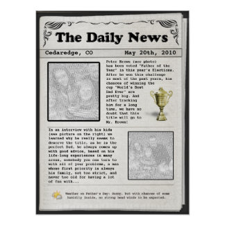 Father's Day Newspaper (customizable) Posters