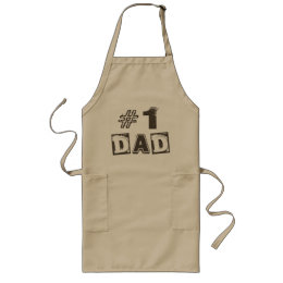 Father's Day Number One Dad Apron