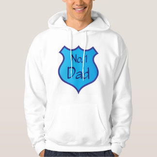 Fathers Day Number One Dad Shield Hoodie
