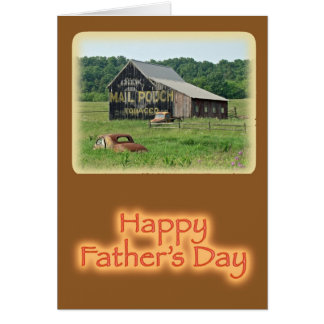 Father's Day Old Barn With Painted Advertising Greeting Cards