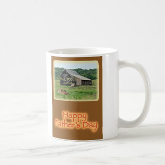 Father's Day Old Barn With Painted Advertising Coffee Mug
