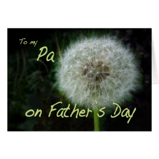 Father's Day Pa dandelion wish for Card