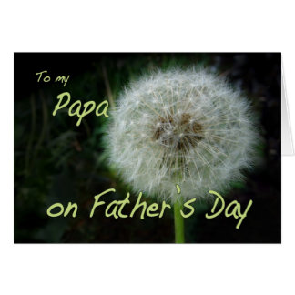 Father's Day Papa dandelion wish for Card