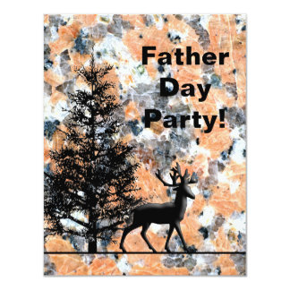 Father's Day Party Invitation Deer