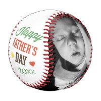 Fathers Day Personalized Colorful Baseball