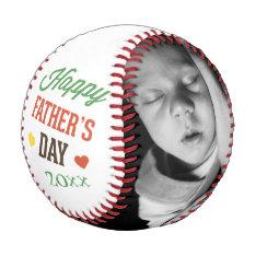 Fathers Day Personalized Colorful Baseball at Zazzle