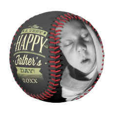 Fathers Day Personalized One Of A Kind Baseball at Zazzle